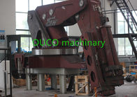 Hydraulic 50t Semi Knuckle Movable Jib Crane Loader Truck Mounted With Foldable Boom