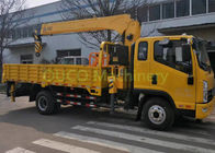 10 T Electric Driven Truck Mounted Hydraulic Crane Lifting / Unloading
